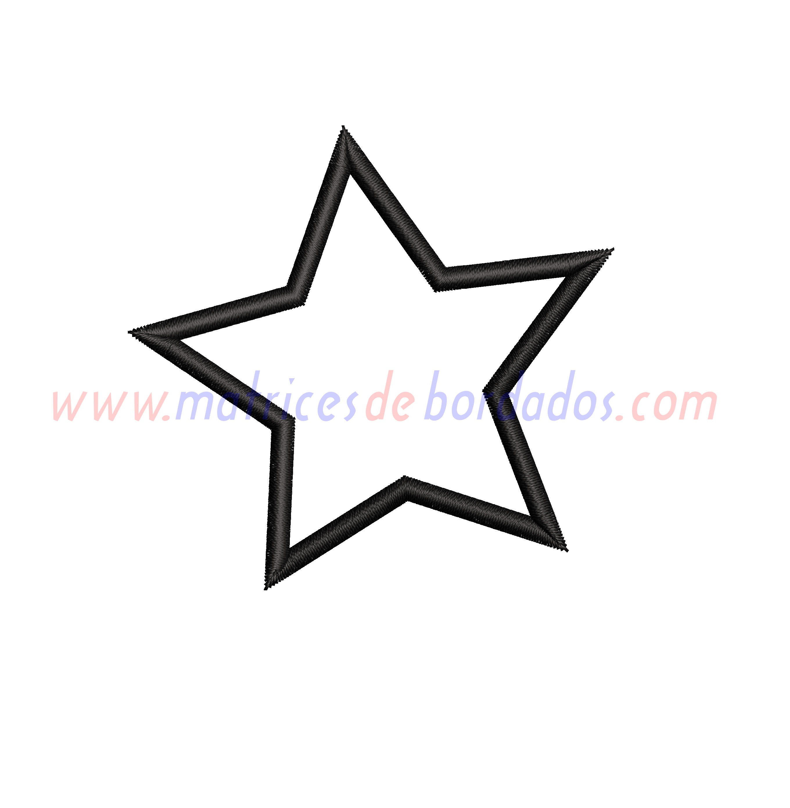 XE36SM - Estrella Inclinada Apliqué