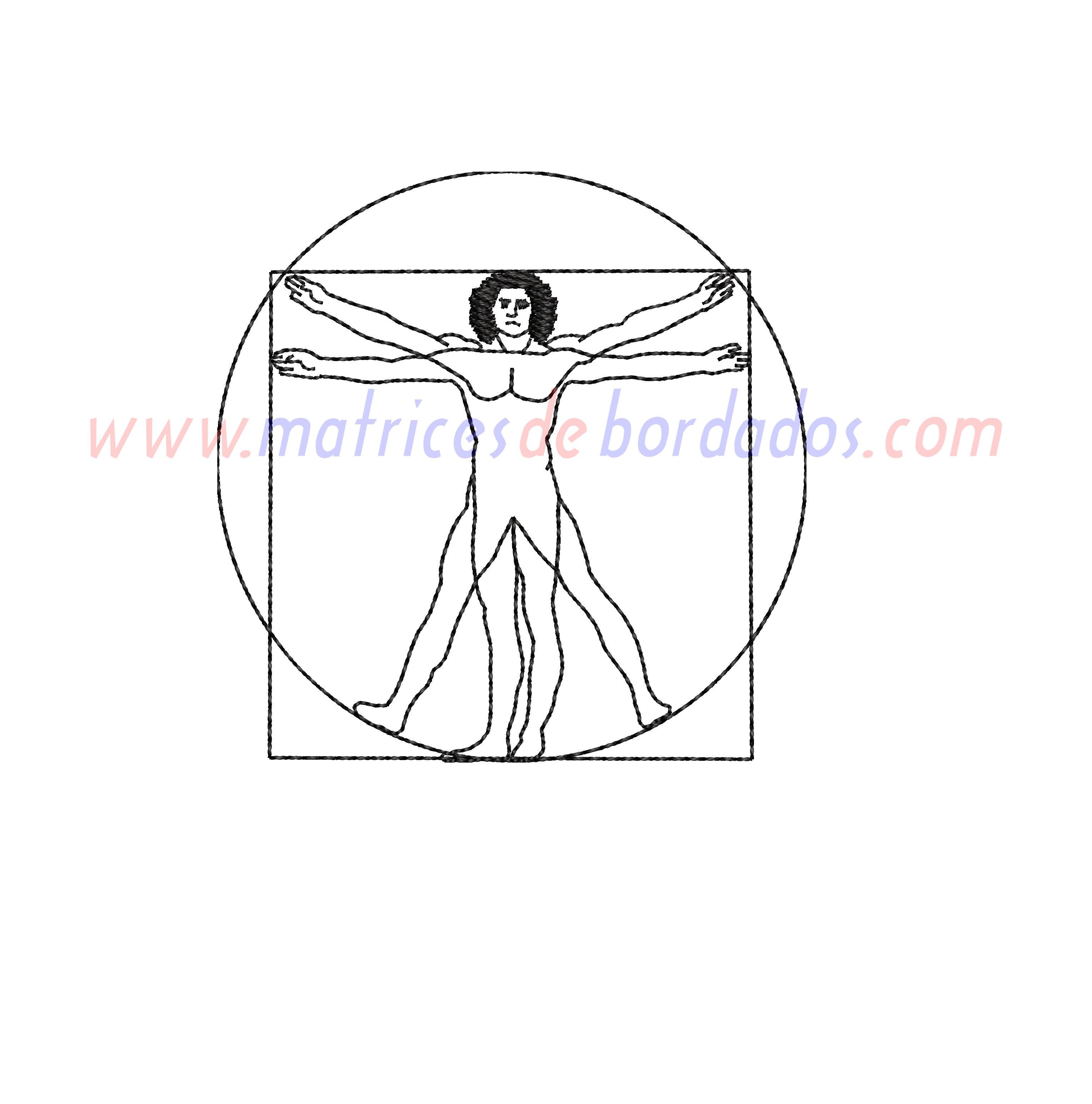 LQ46GK - Hombre de Vitruvio Da Vinci