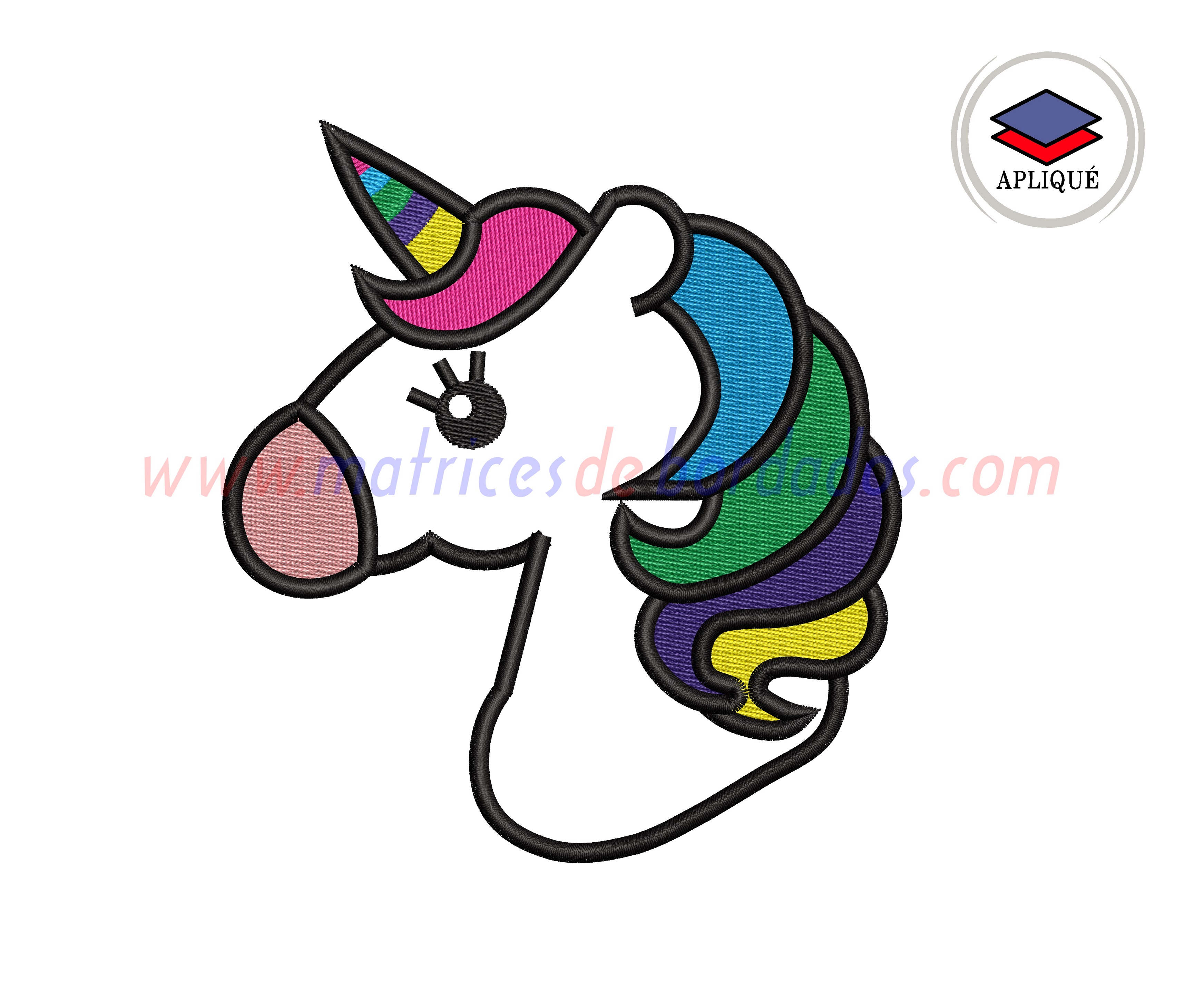 FU76RG - Unicornio aplique