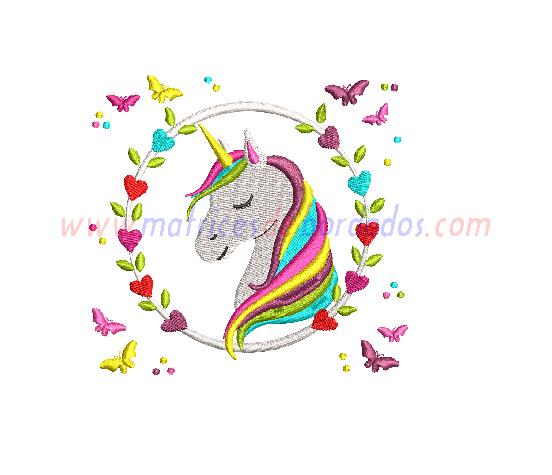FZ18UL - Unicornio flores