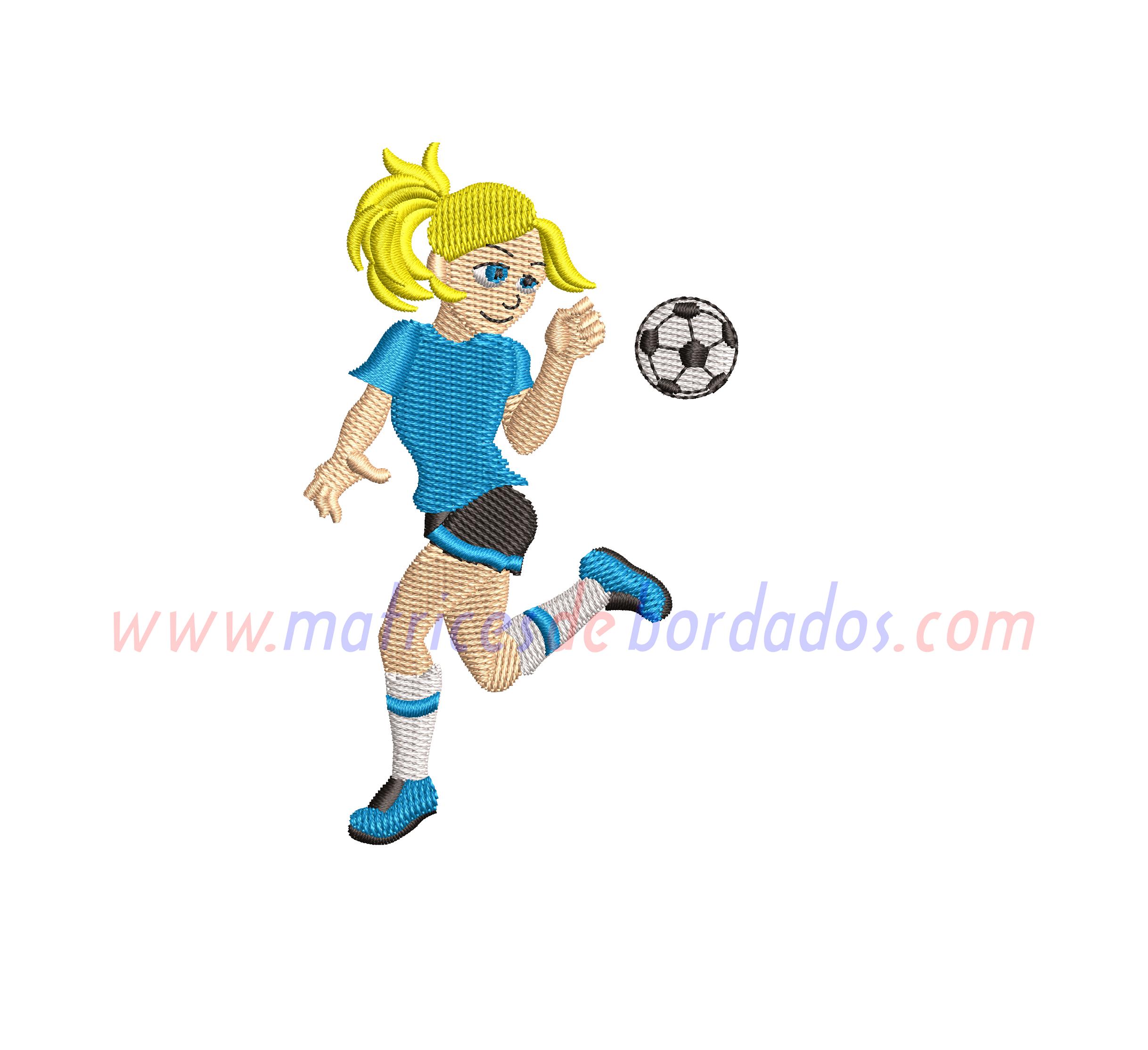 TP17KZ - Niña futbolista