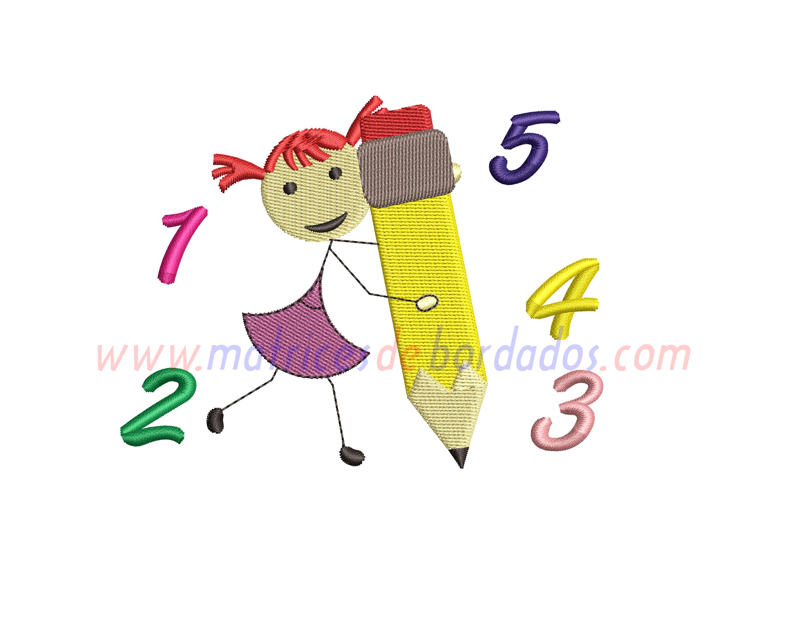 QU45RT - Niña Matemáticas