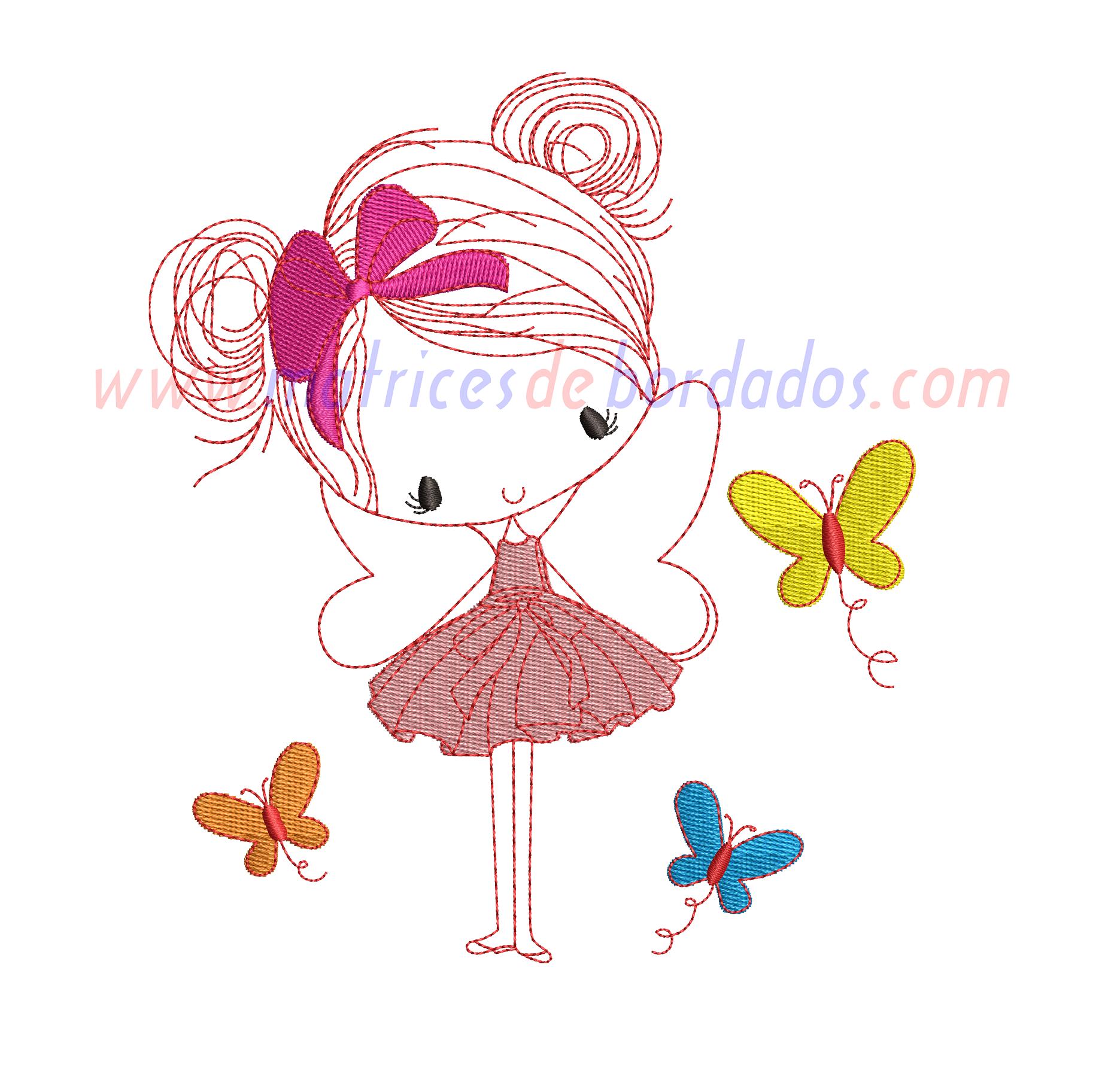 TD26EG - Niña mariposa