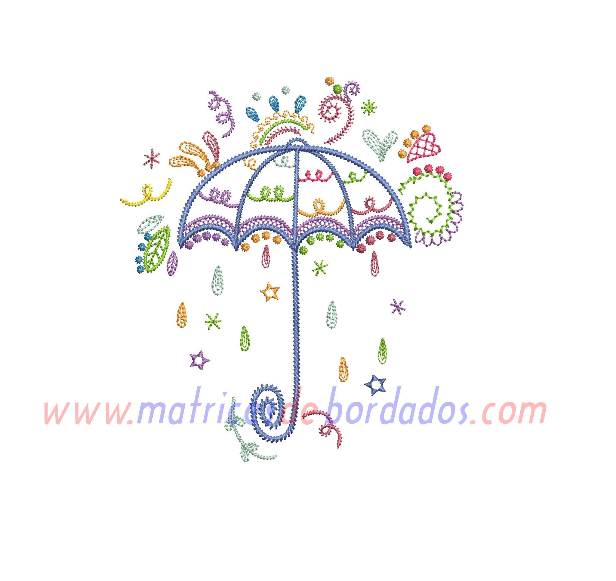 BD58DK - Paraguas Colorido