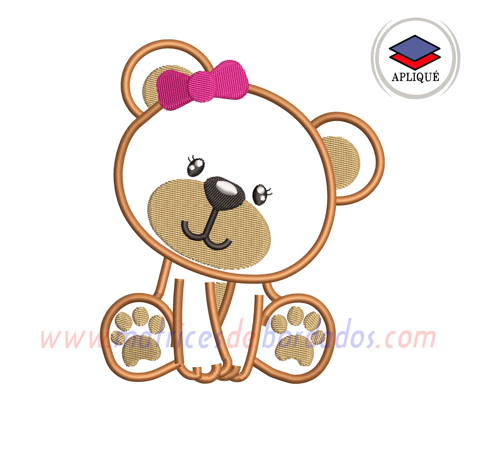 QD75VB - Oso Apliqué
