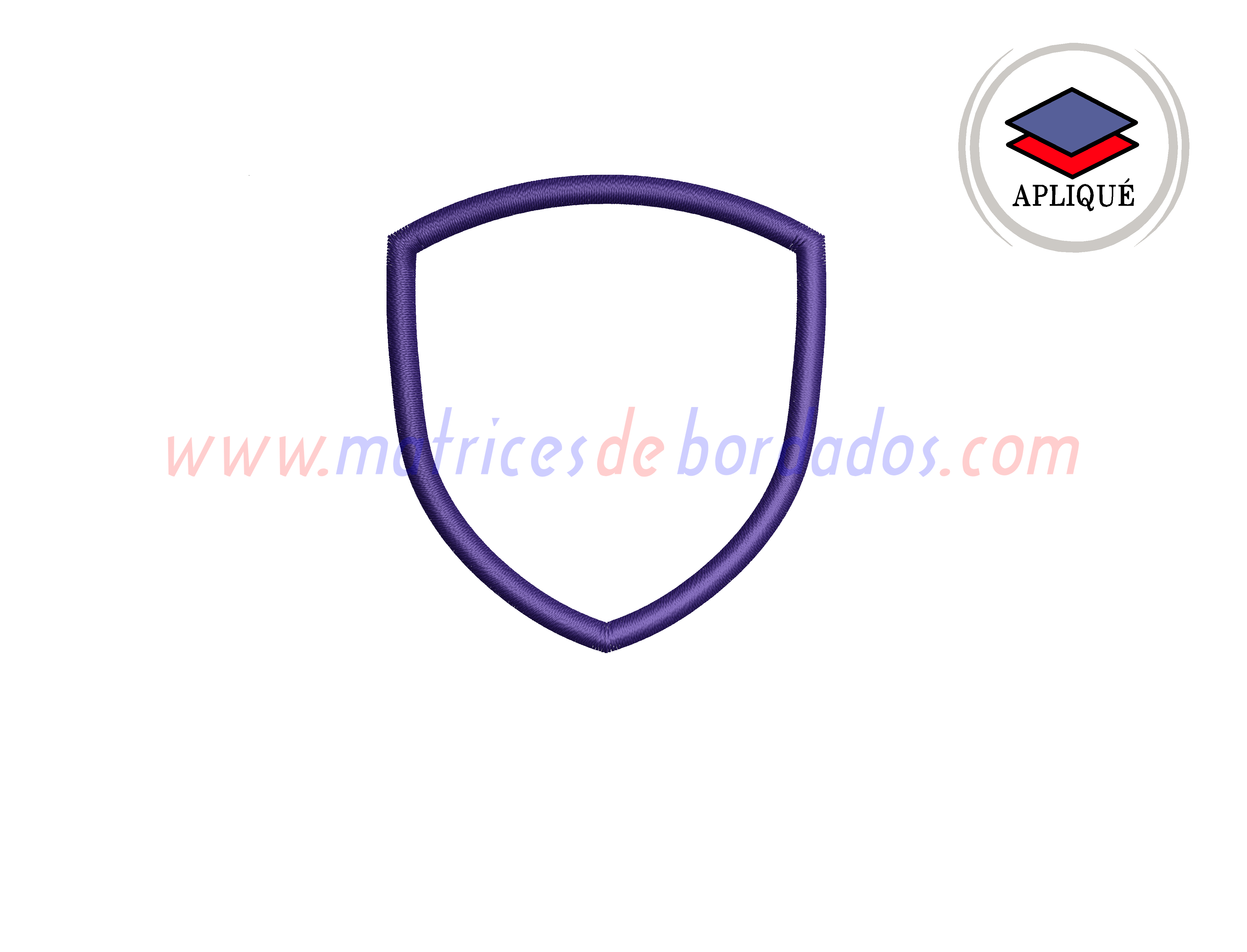 CJ64NR - Parche escudo apliqué