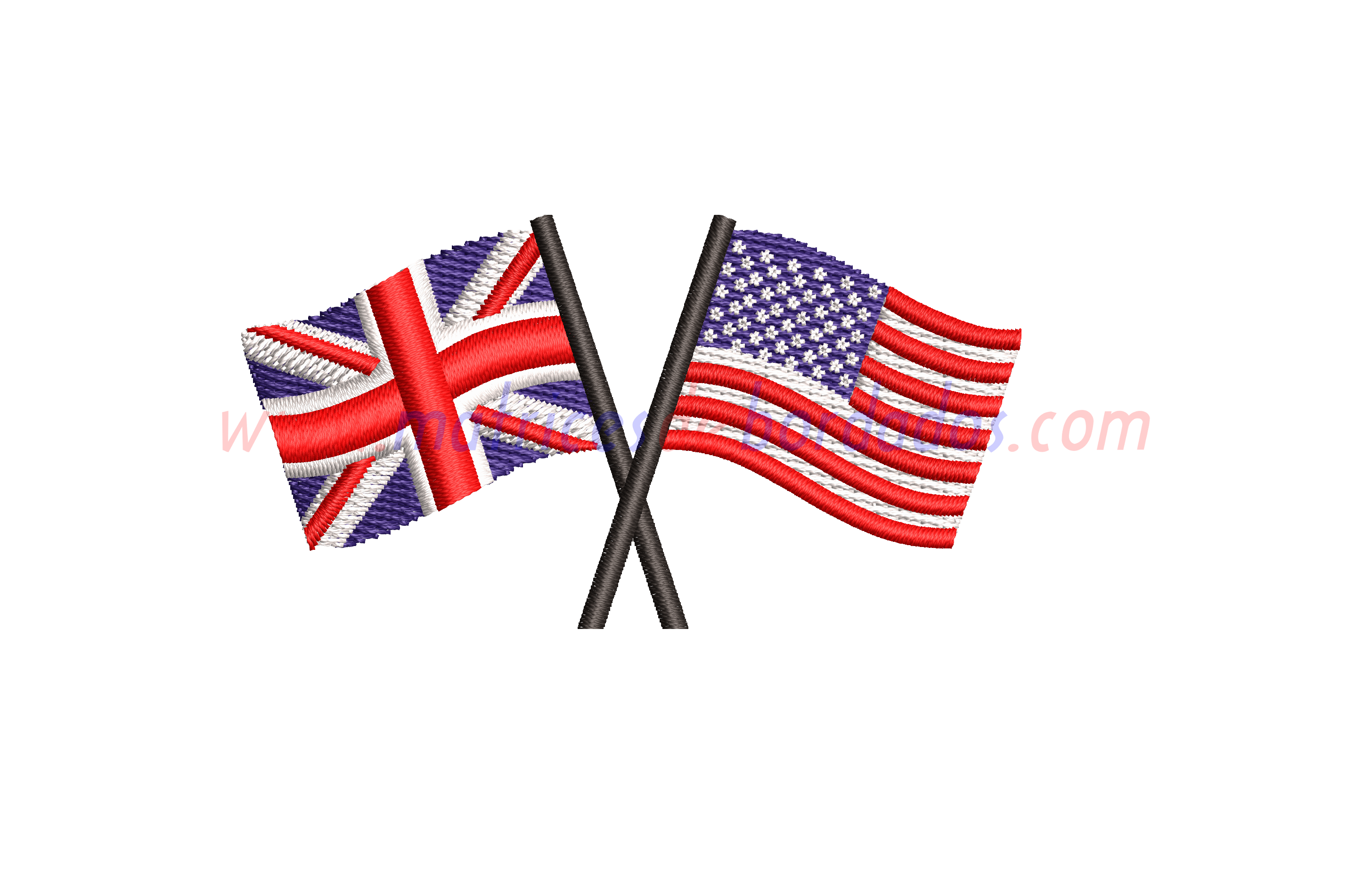 UP18CV - Banderas Estados Unidos y Reino Unido