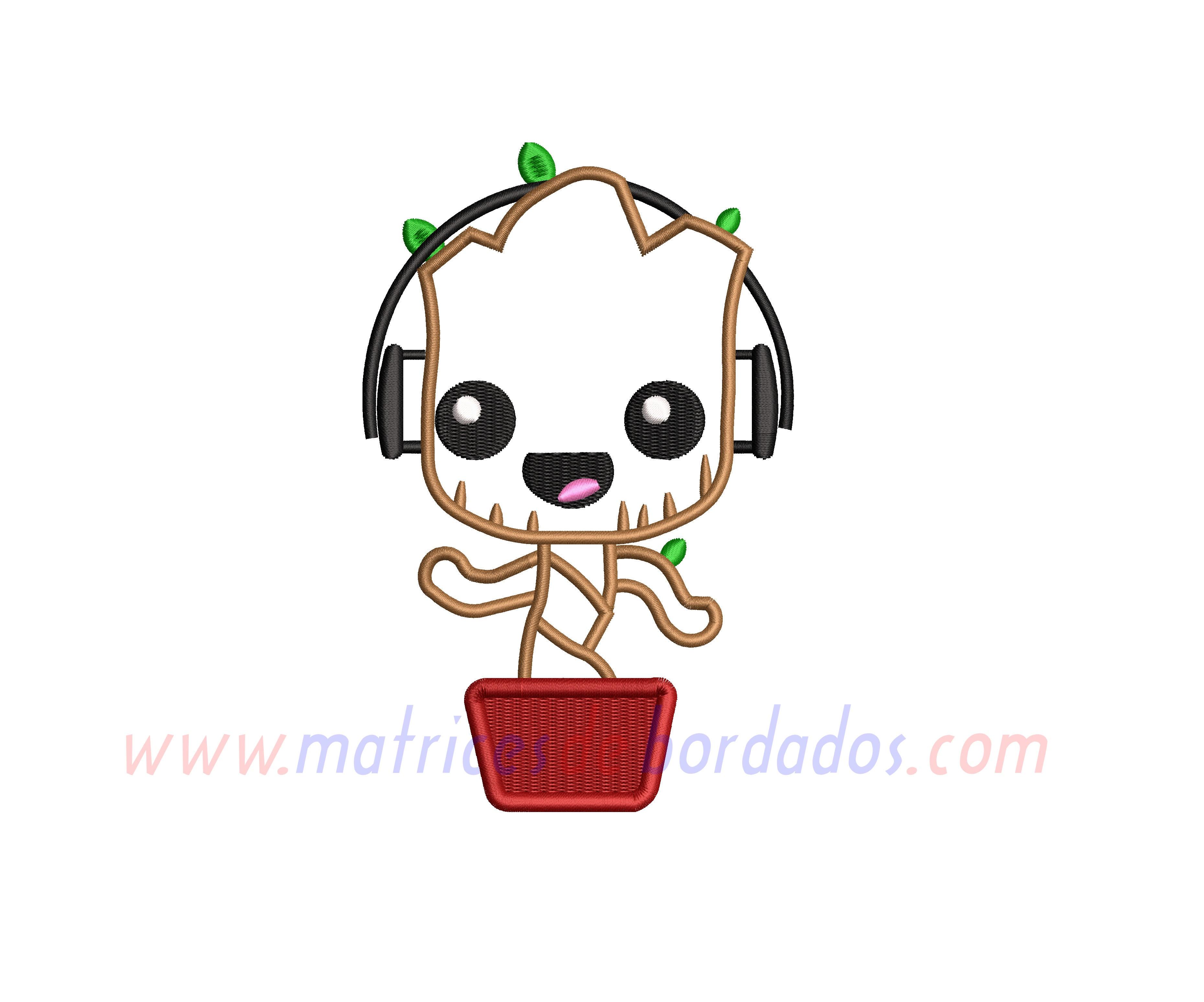 AK25DW - Baby Groot Apliqué