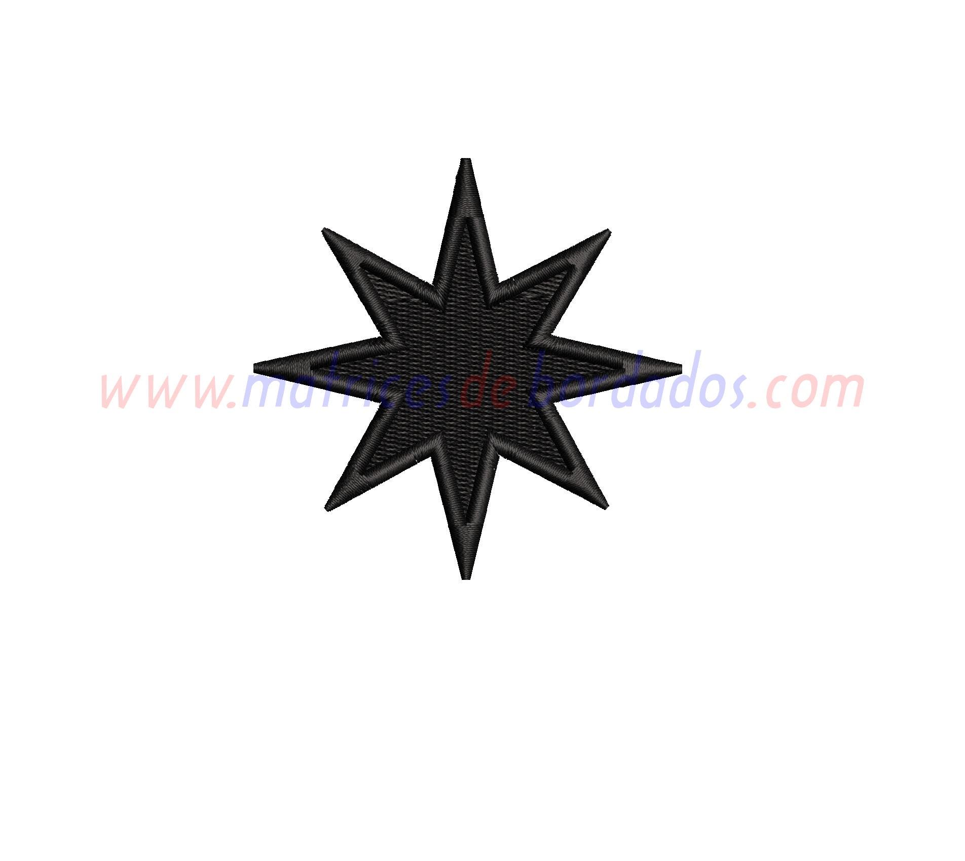 WD87JZ - Estrella de 8 puntas