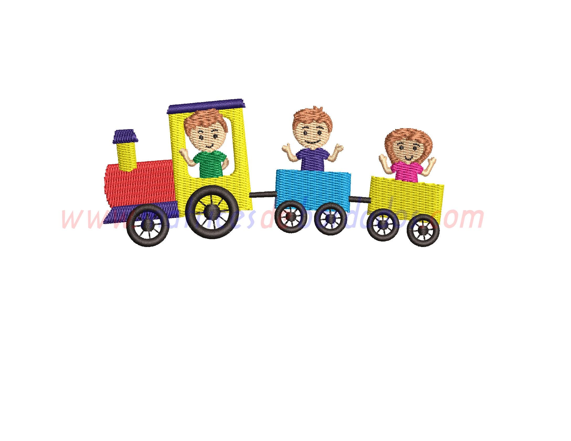 LJ99MH - Tren con niños