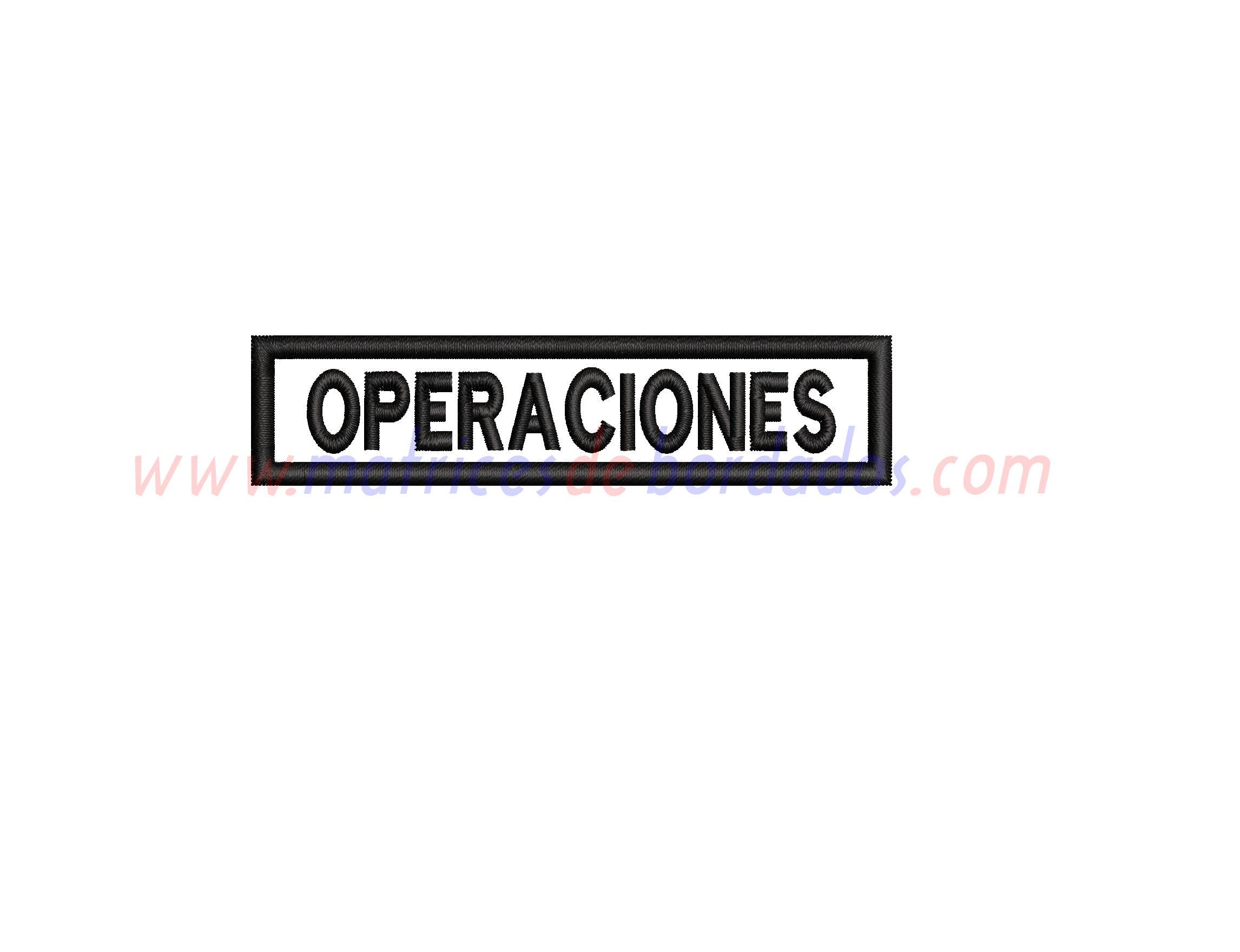 PJ67NR - Operaciones Apliqué