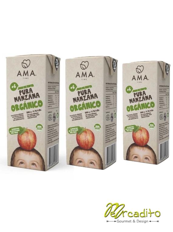 Jugo Manzana Orgánico Tetra 200 cc (Pack x 3)