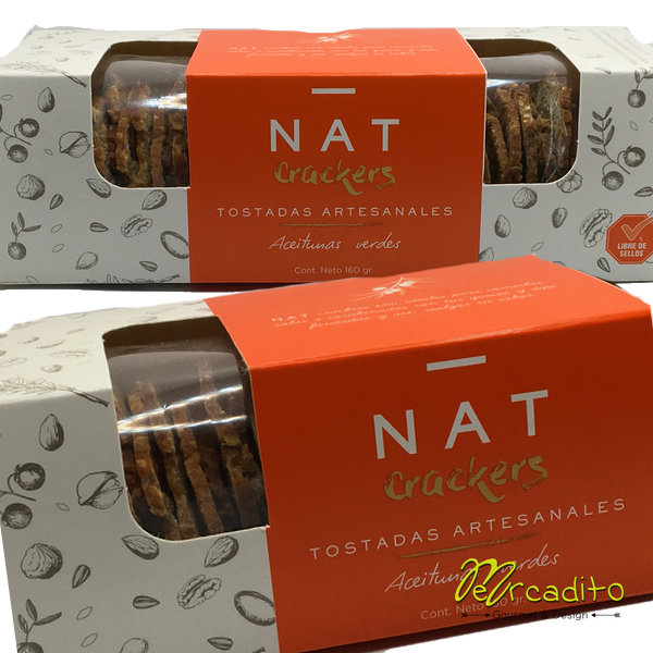 Nat Crackers - Aceitunas Verdes