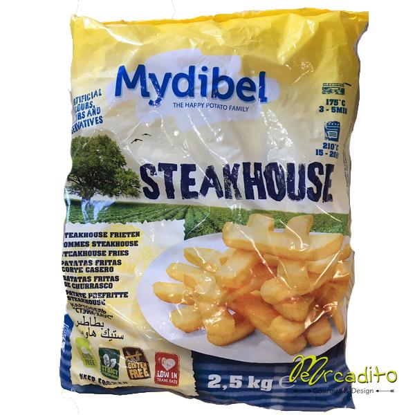 Papas pre fritas Steak House - Formato Familiar 2,5 kilos