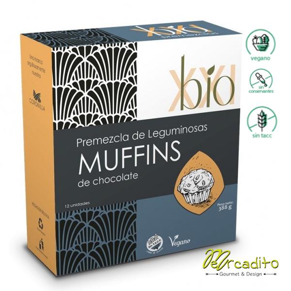 Pre mezcla Muffins de Chocolate - Vegano, Sin Gluten