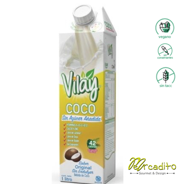 Bebida de Coco Sin Azúcar - Vegana, Sin gluten