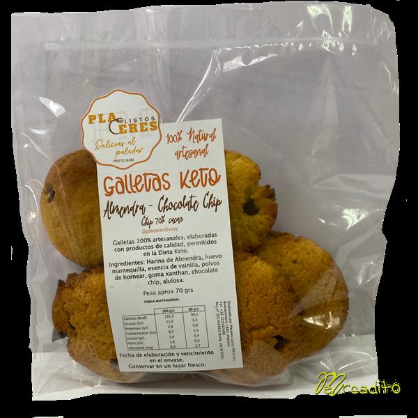 Keto - Galletas Artesanales de Almendra y Chocolate Chip