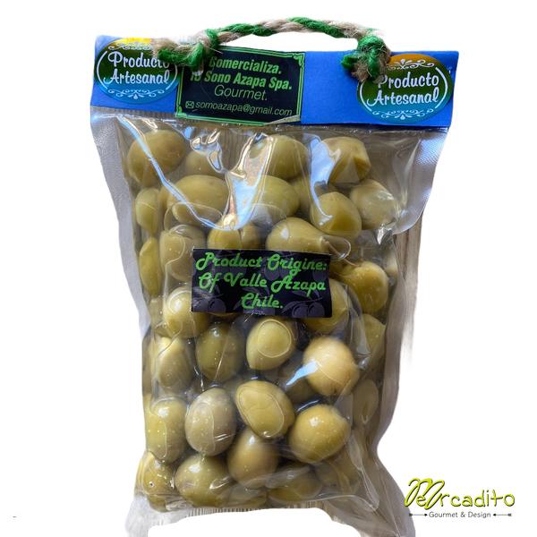 Aceituna Verde Sevillana Orgánica Con Carozo 500 grs