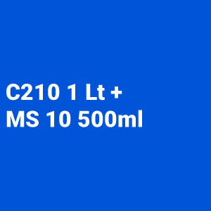Kit Barniz 2:1 C210 1L + Catalizador rápido MS10 500ml