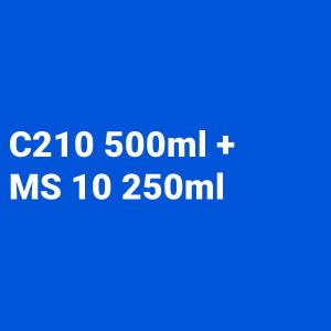 Kit Barniz 2:1 C210 500ml + Catalizador rápido MS 10 250ml