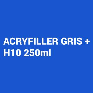Kit Primer 4:1 Acryfiller gris 1L + Catalizador Rapido Hs10 250ml