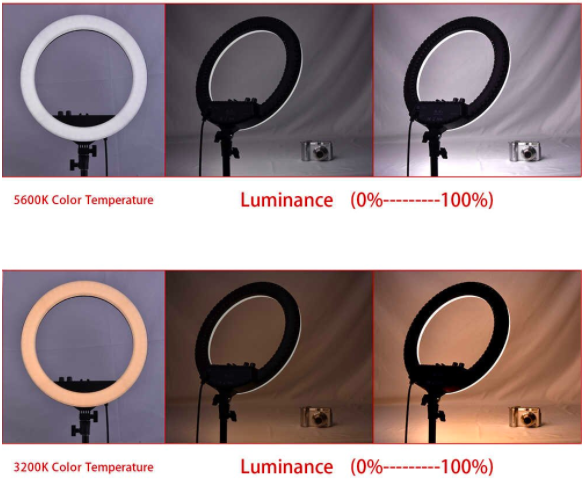 Aro de luz profesional de 48cm de diámetro + Trípode de 2m