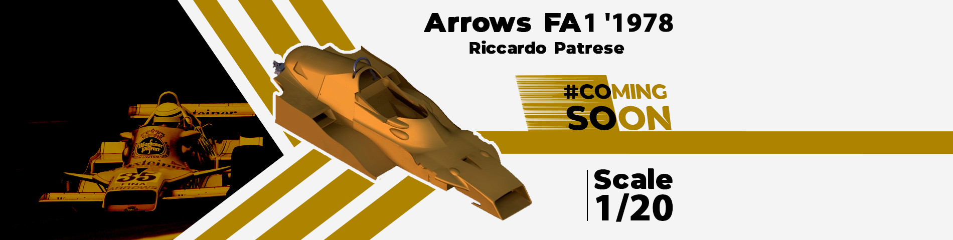 1/20 Scale 1978 Arrows FA1 - Coming Soon Modelling Store Exclusive