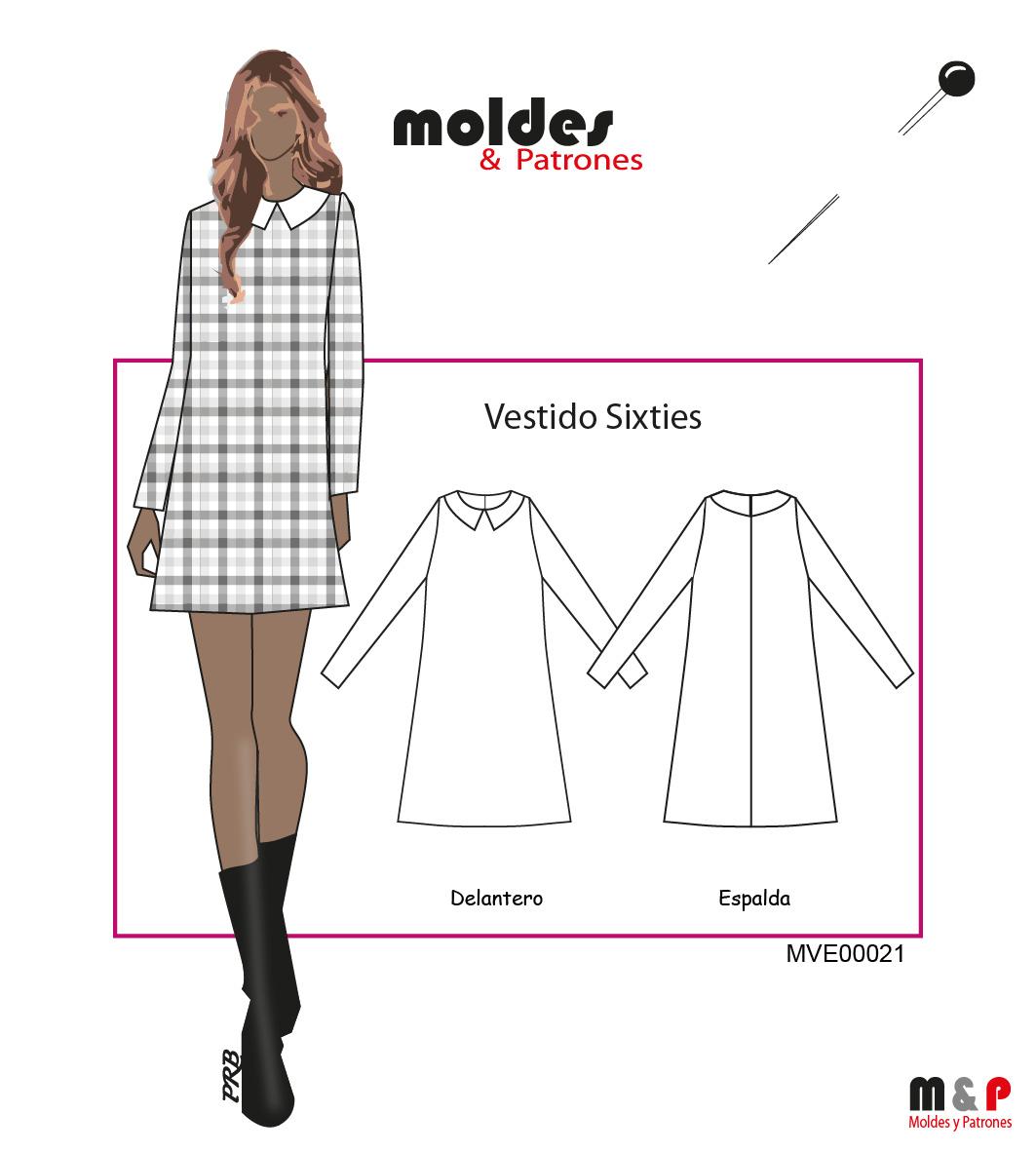 3 TALLAS S M L - Vestido Sixties