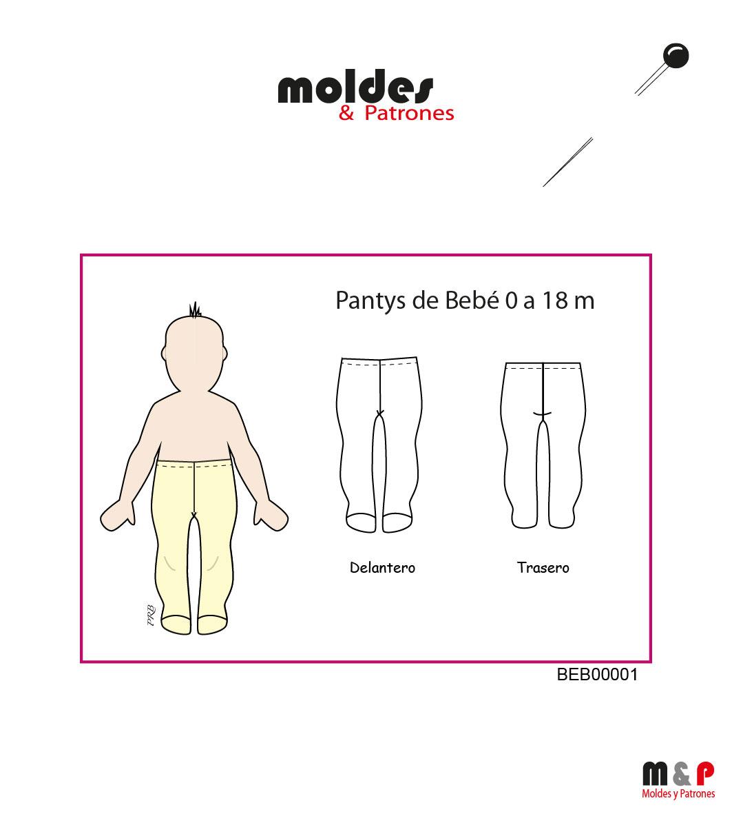 7 TALLAS de Pantys bebé - 0 hasta 18 meses