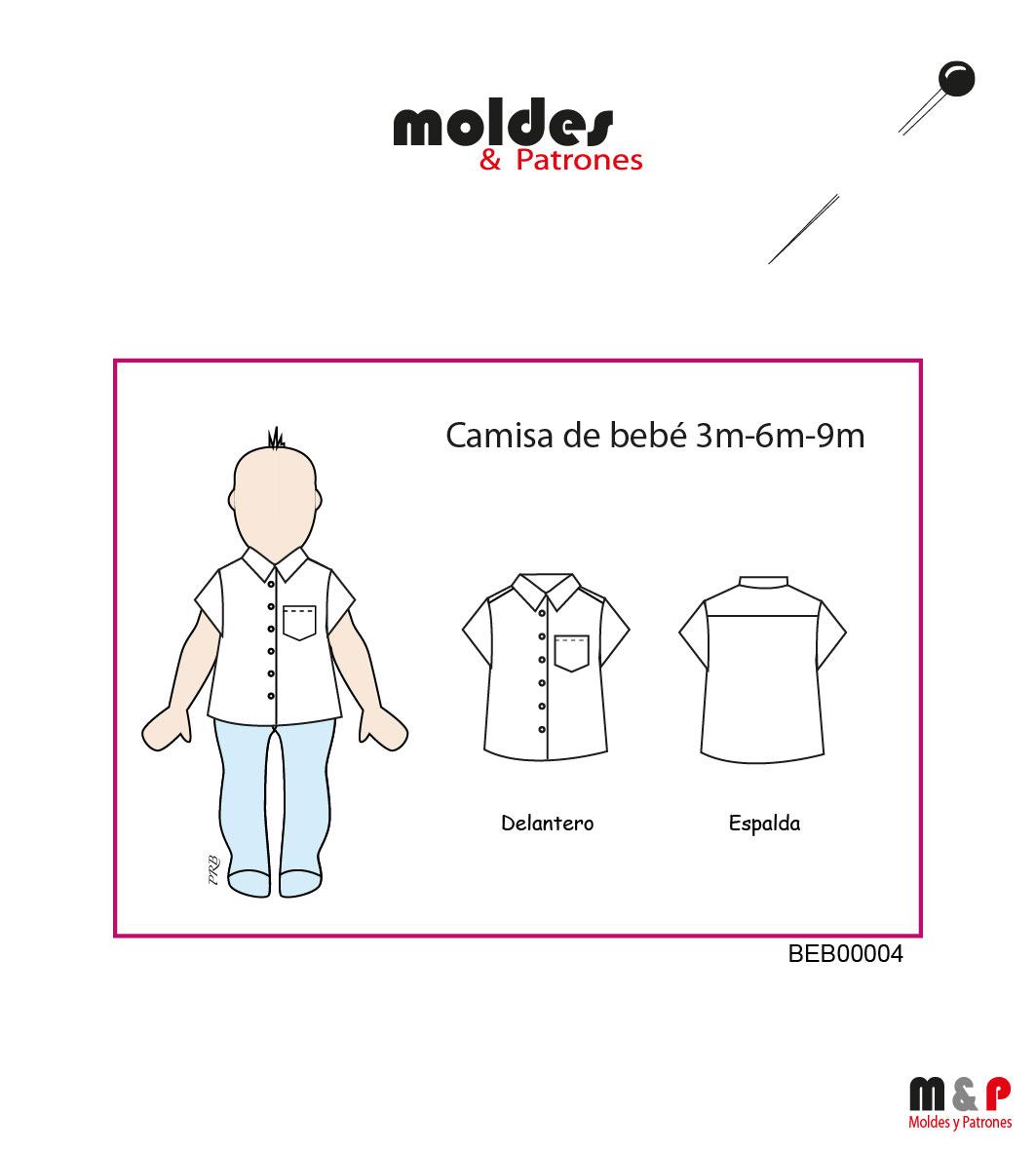 Camisa de bebé en 3 Tallas - 3M - 6M - 9M
