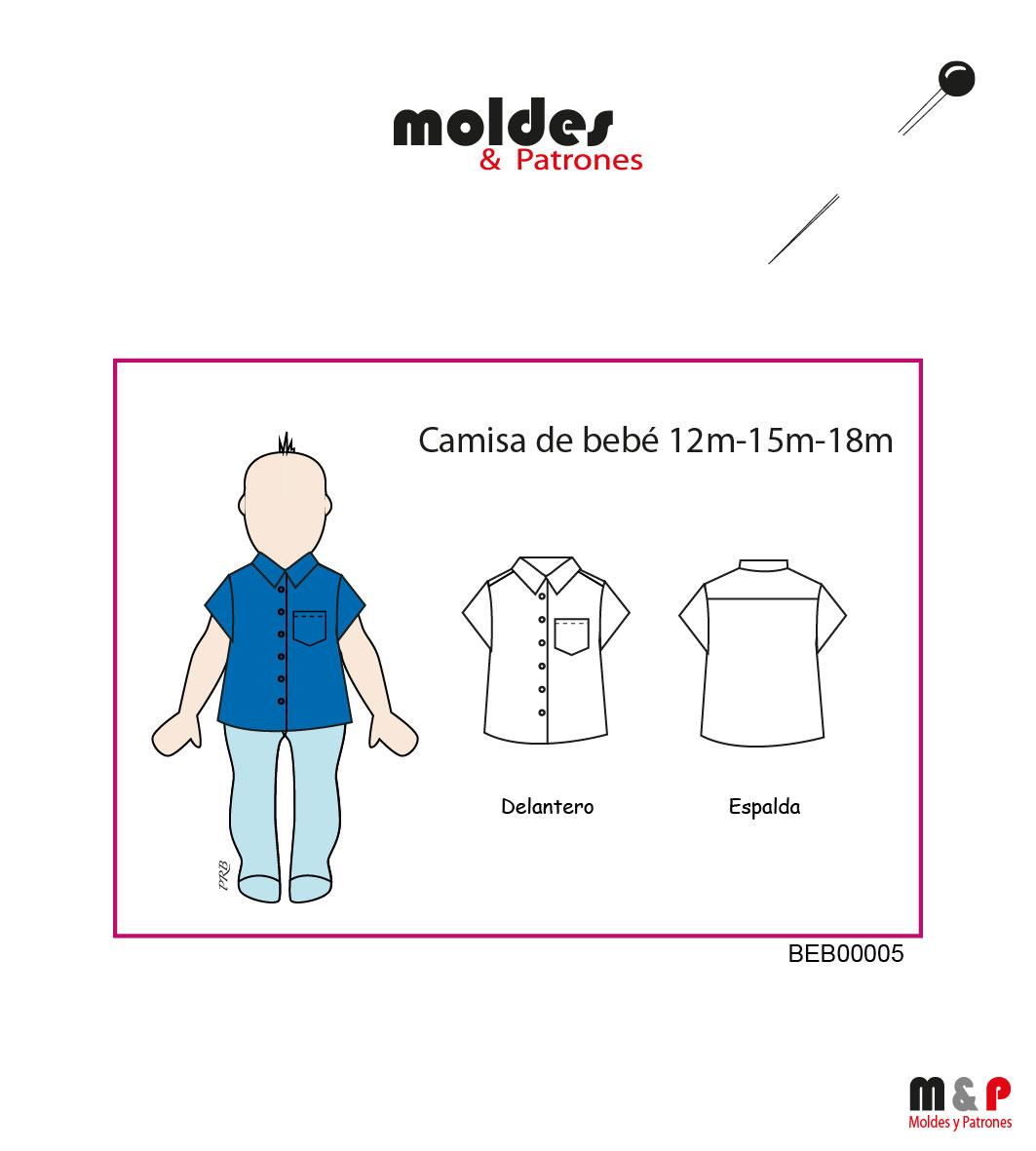 Camisa de bebé en 3 Tallas - 12M - 15M - 18M