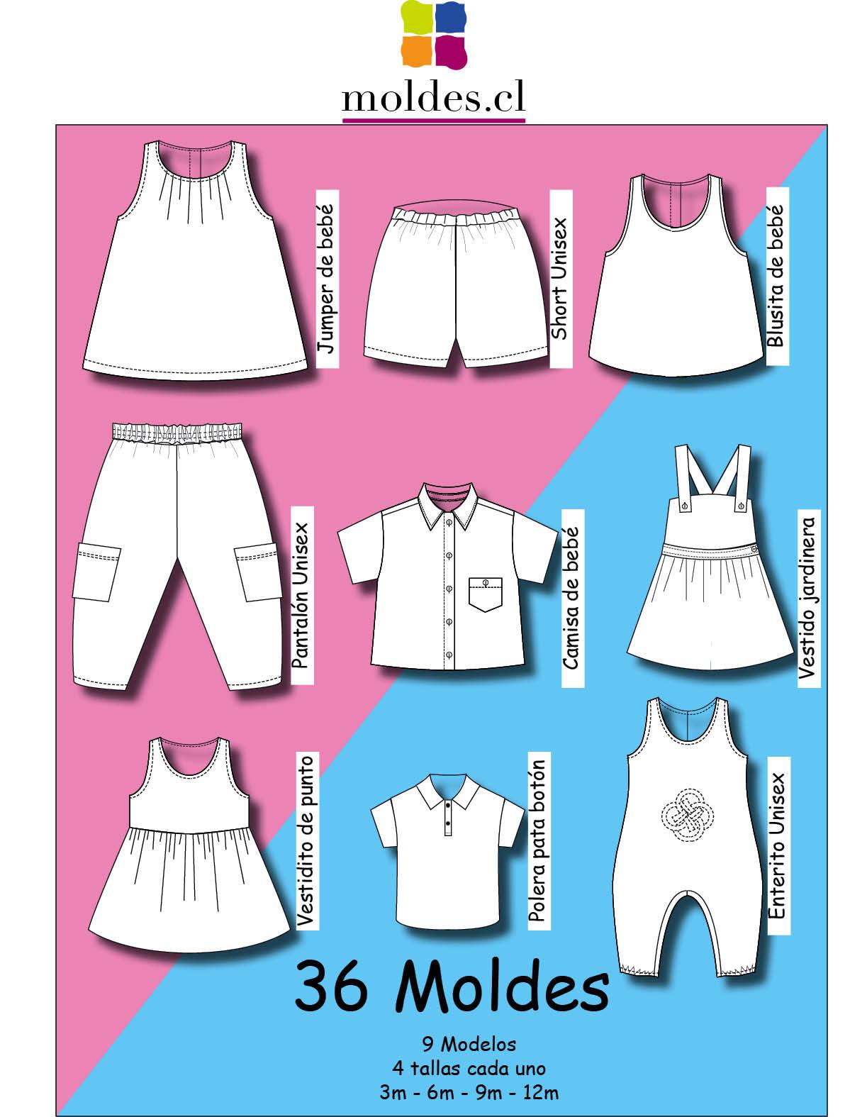 Set Patrones para Bebés