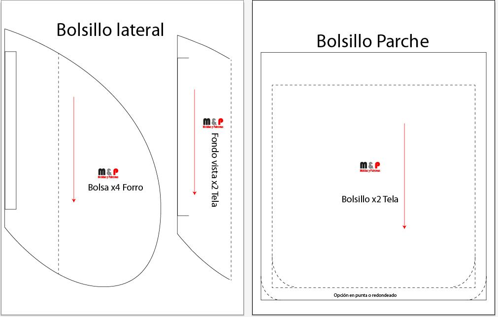 Patrón Bolsillo Lateral y Parche