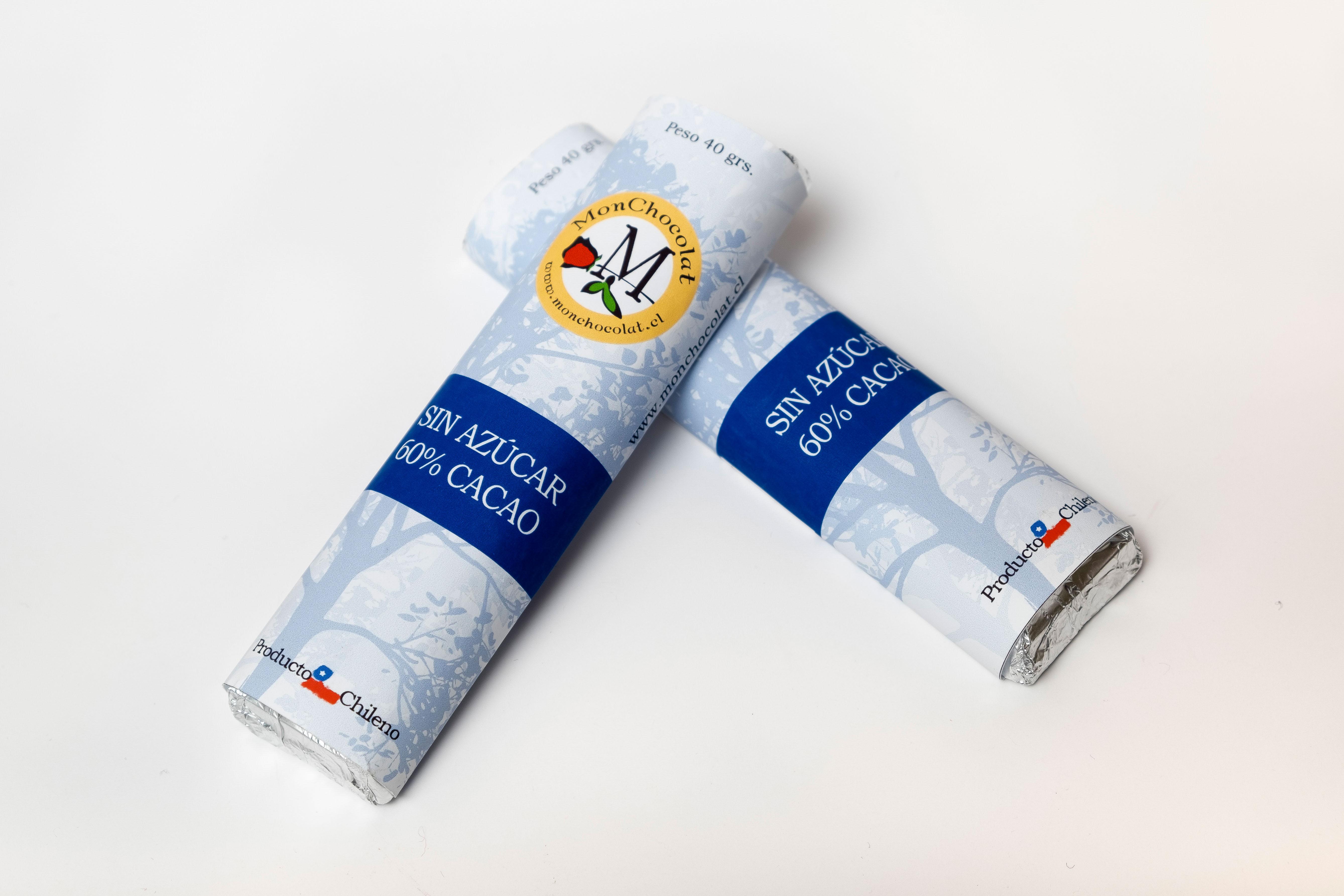 Barra Premium 60% Cacao SIN AZÚCAR