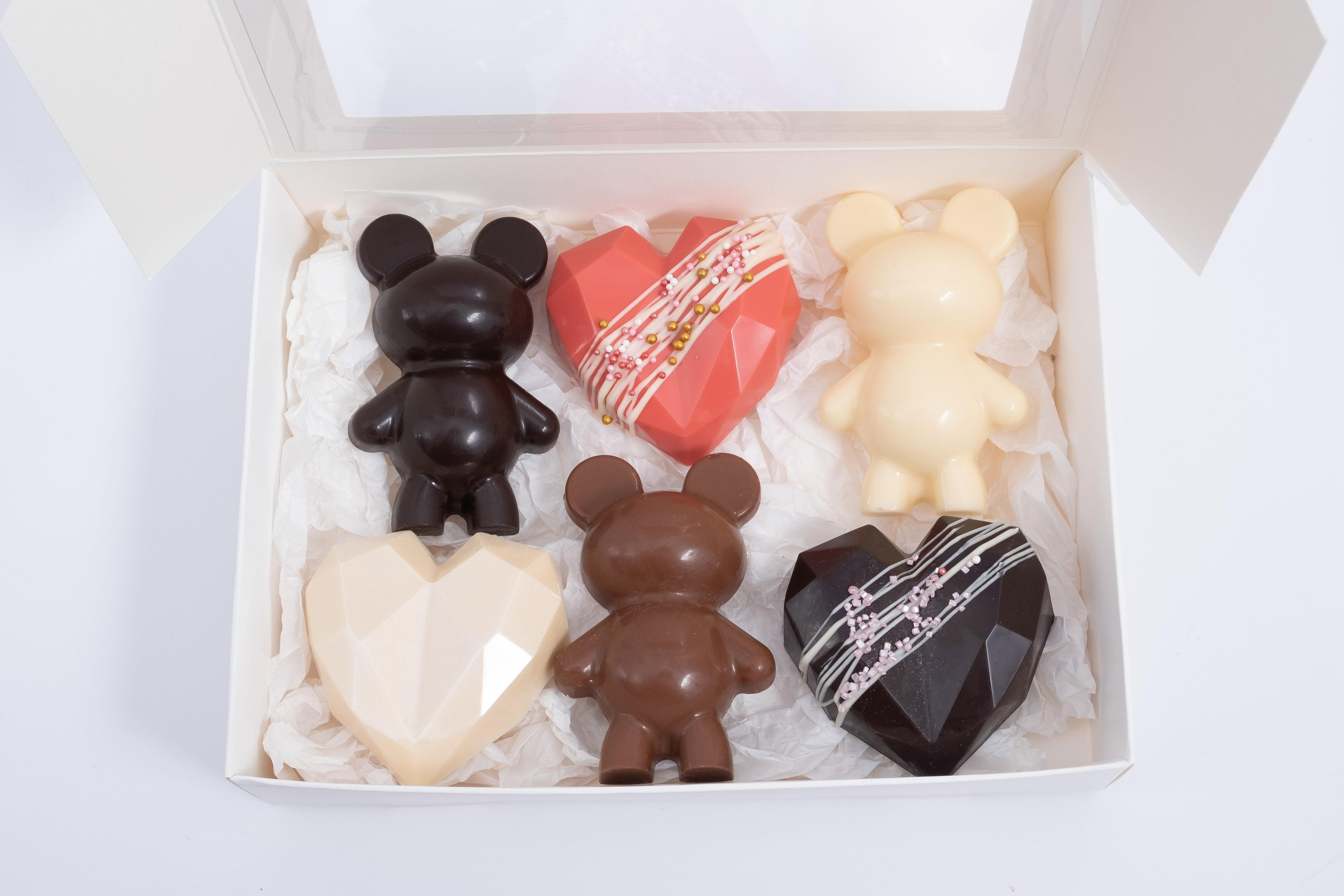 Caja 3 ositos + 3 corazón diamante