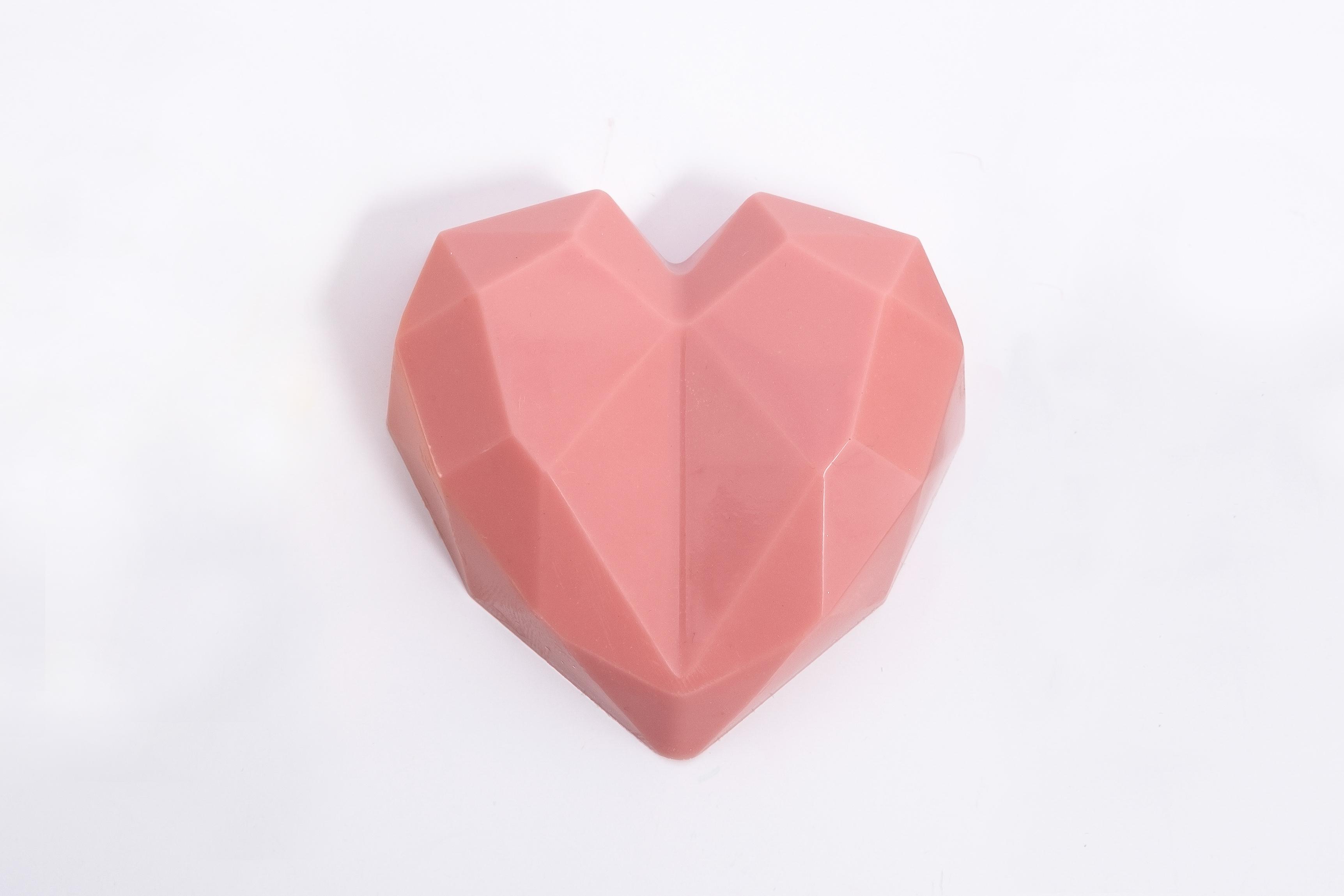 Bolsa corazón diamante