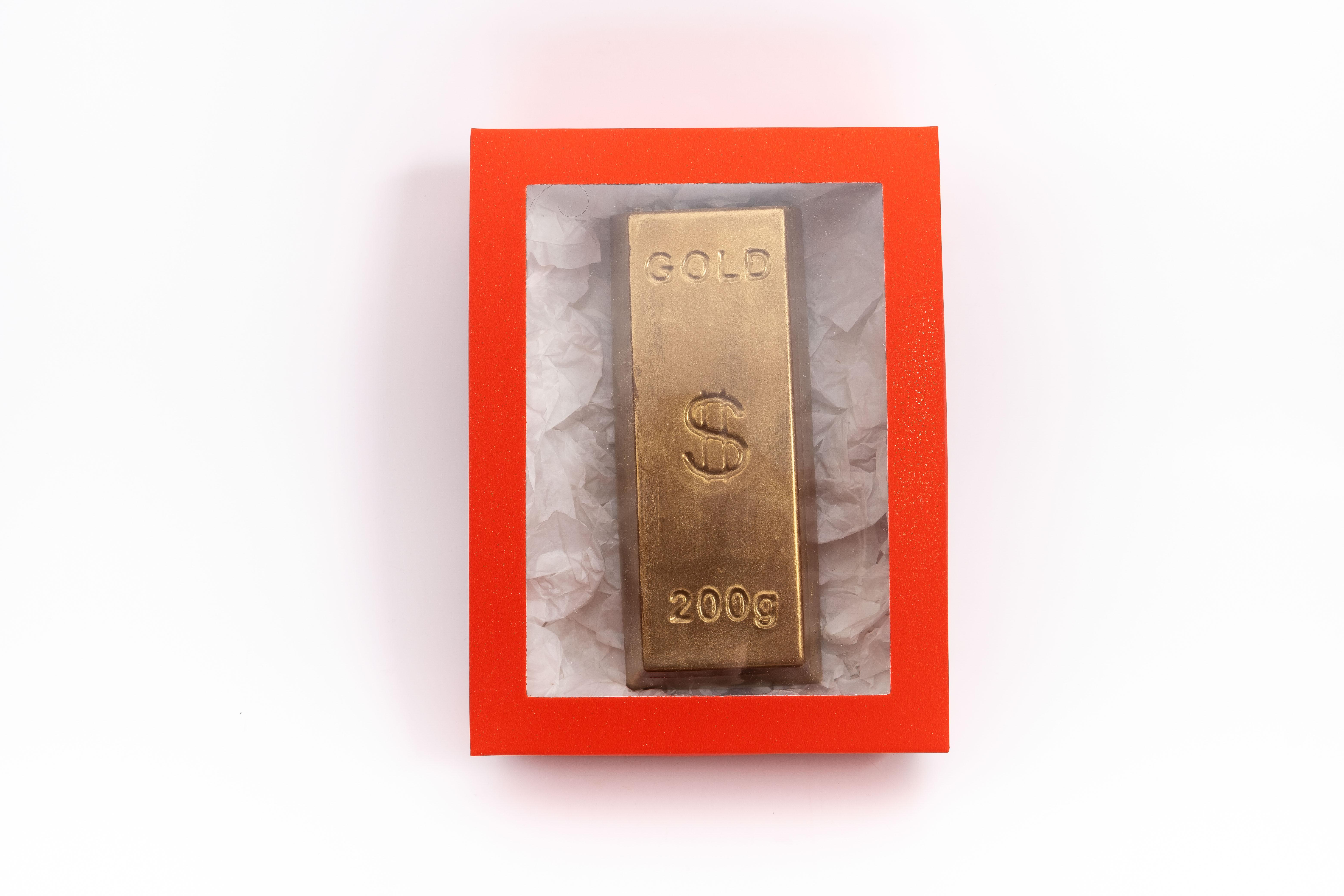 Caja lingote oro + joyas