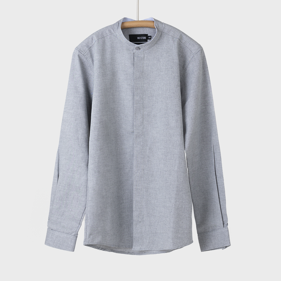 CAMISA AGER OXFORD GRIS