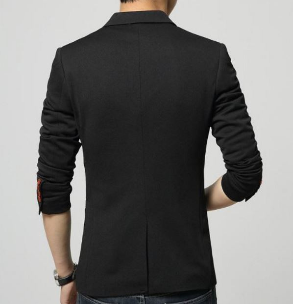 Blazer Slim Fit Negro