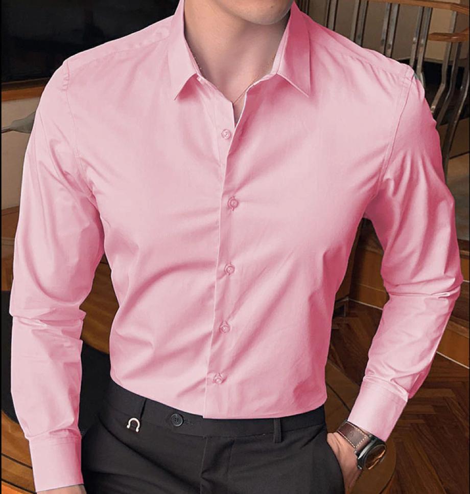 Camisa Slim fit Rosada