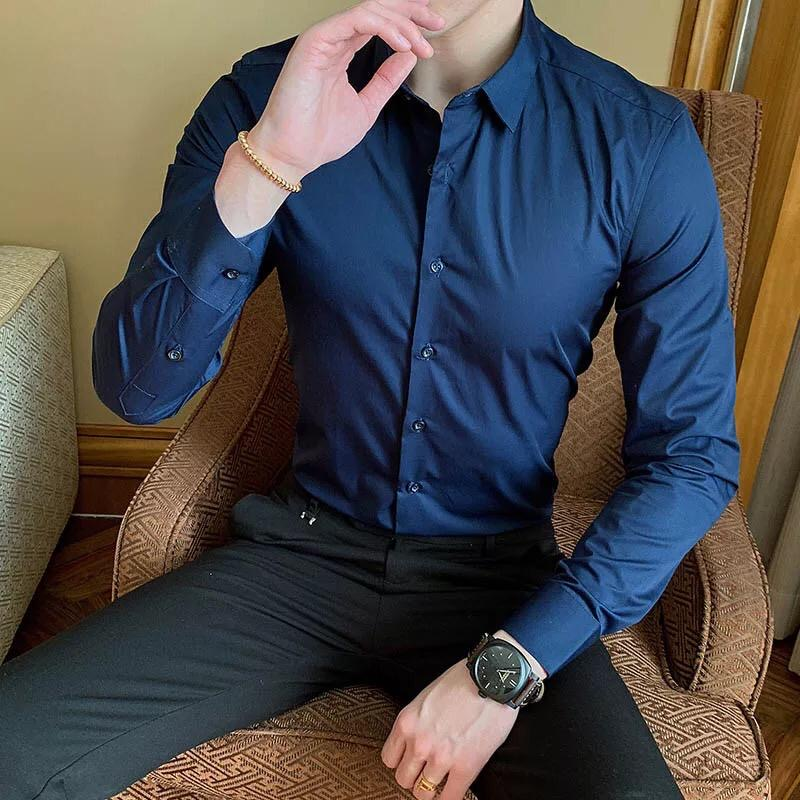 Camisa Slim fit Azul