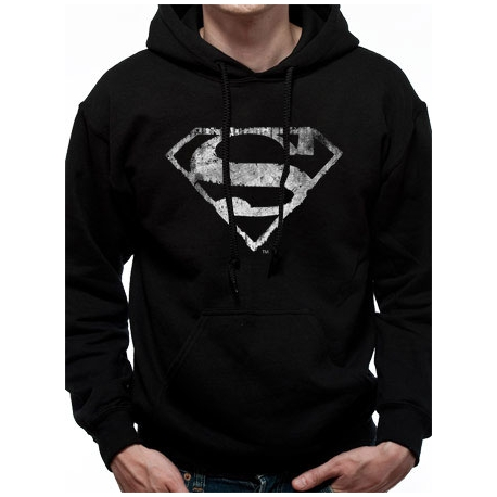 Hoodie Superman Distressed Logo
