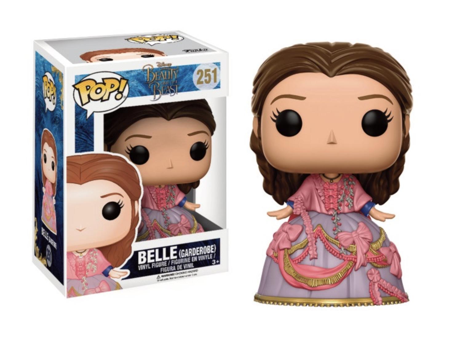 Pop! Disney Beauty and the Beast: Belle with Garderobe Outfit Edição Limitada