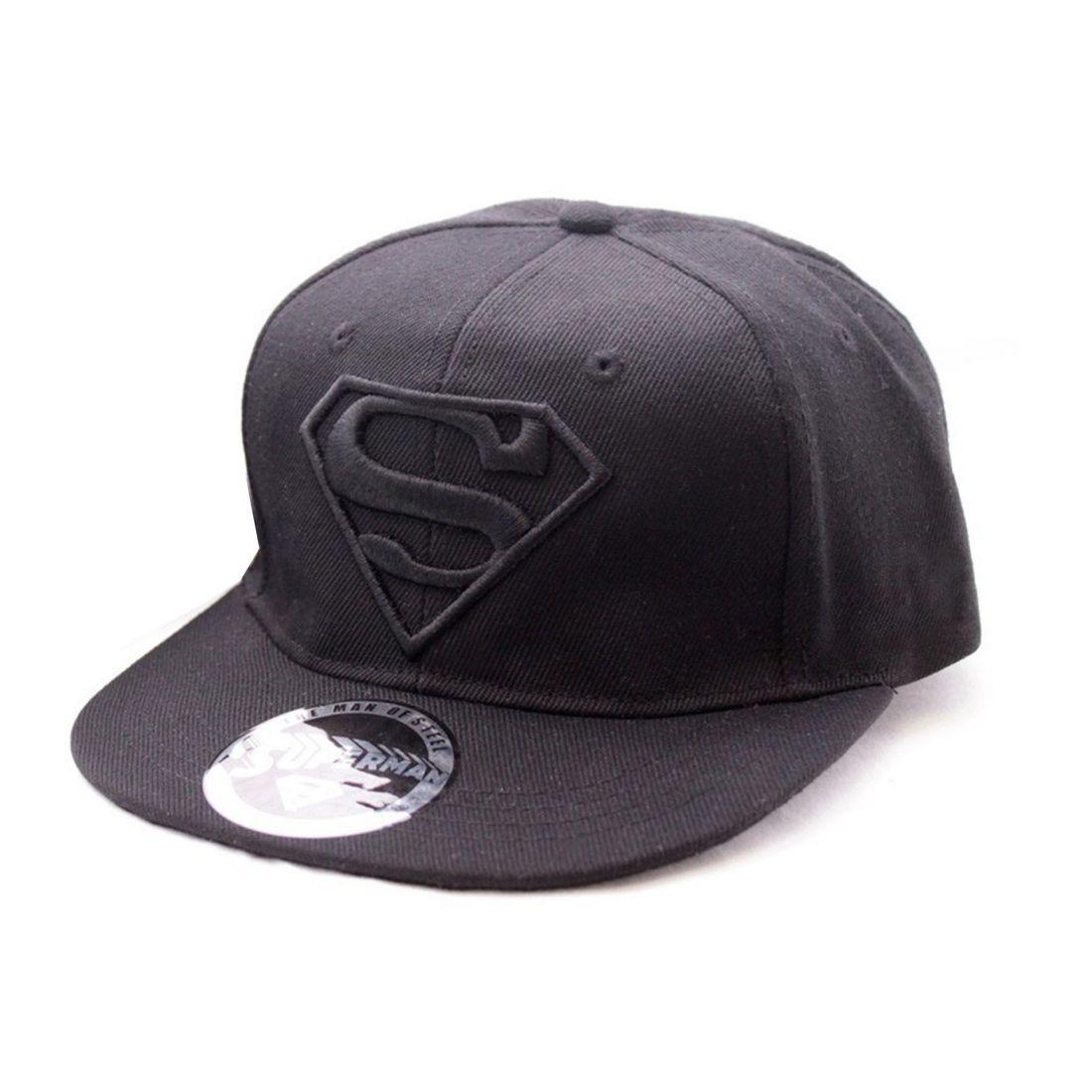 Chapéu Superman Black on Black Logo