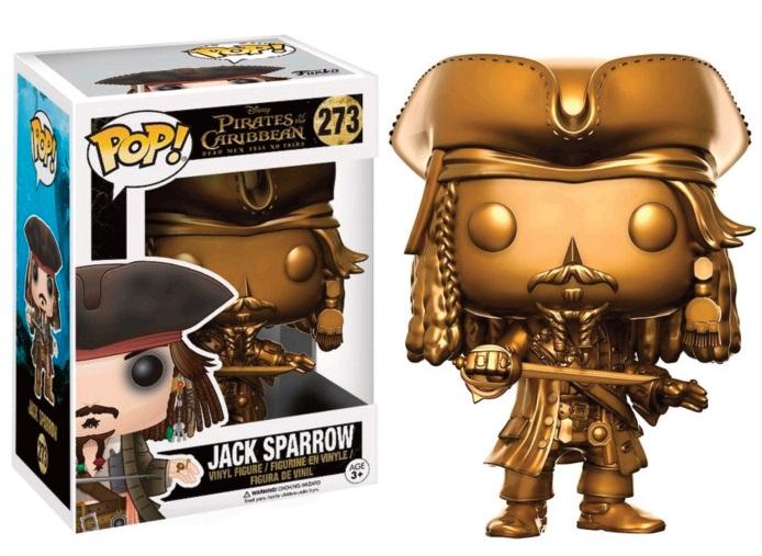 POP! POTC Dead Men Tell No Tales: Jack Sparrow Gold Version