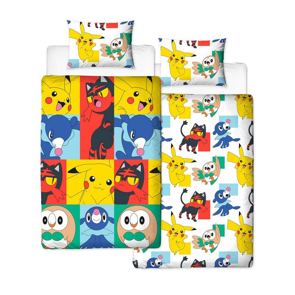 df5a4f87e2a68d Conjunto Reversível Capa de Edredon e Fronha de Almofada Pokémon Newbies