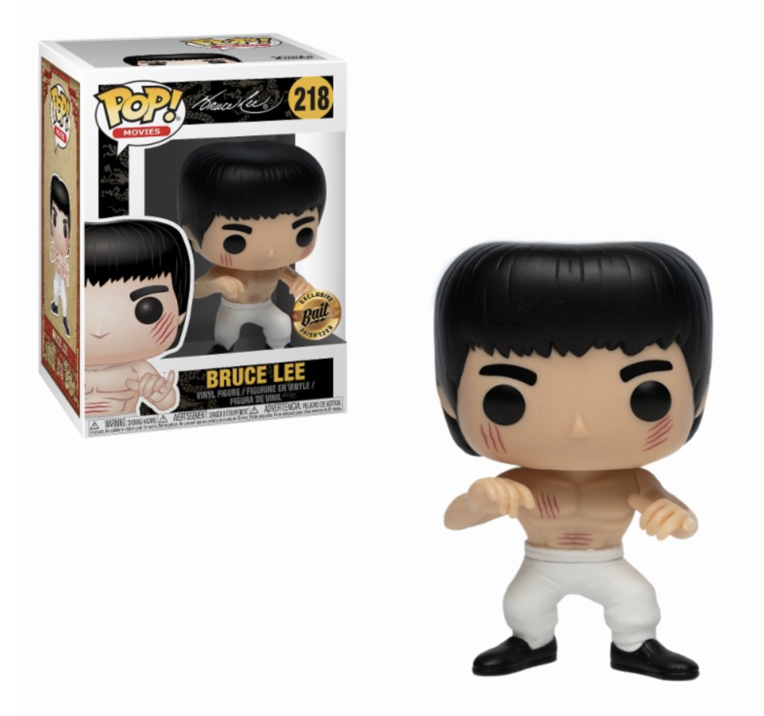 POP! Movies: Bruce Lee - White Pants Bruce Lee Edição Limitada