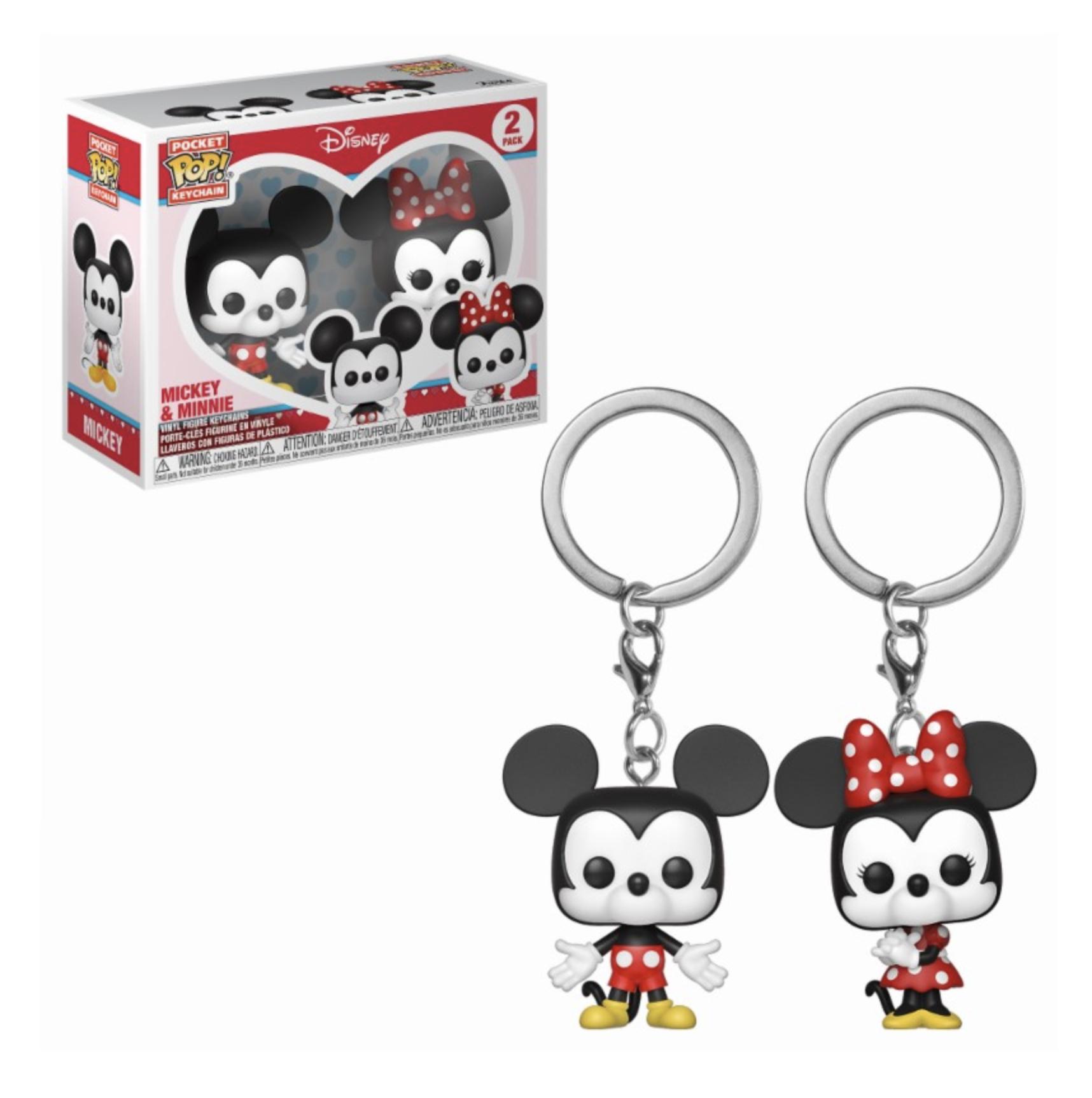 Porta-chaves Pocket POP! Disney: Mickey & Minnie