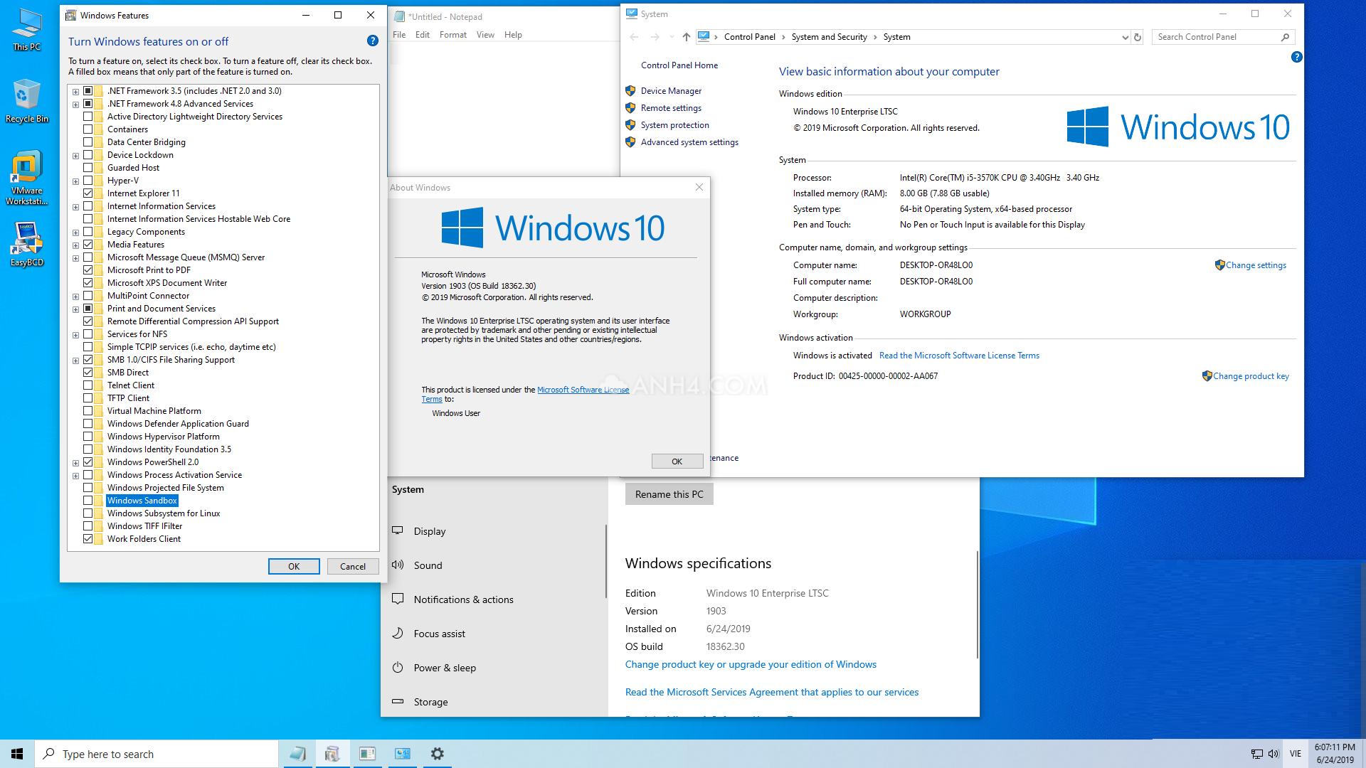Windows 10 Enterprise LTSC 32 & 64 Bit ESD * 1PC