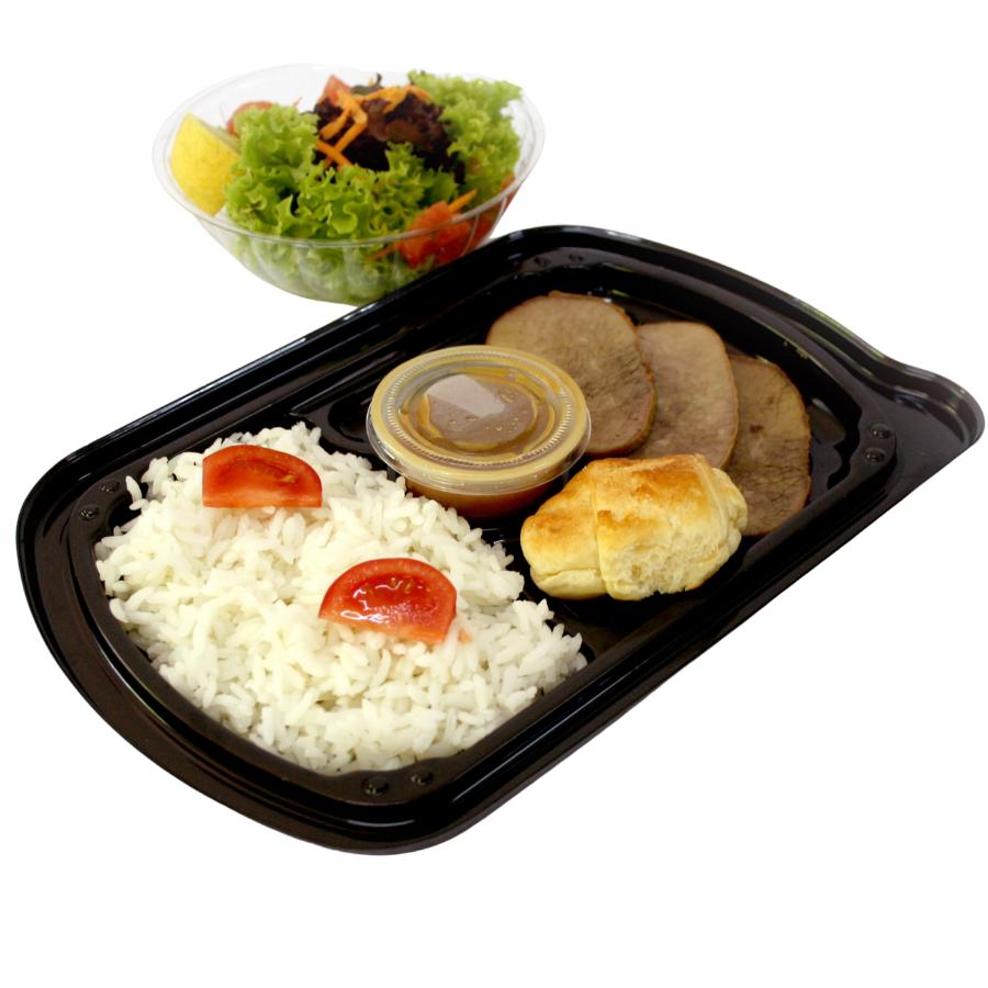 Carne, Pollo o Hamburguesa Vegana con Arroz y Ensalada